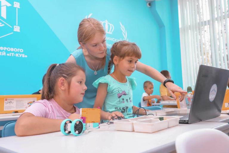В Княгининском IT-Кубе состоялся мастер-класс по изучению LEGО Education SPIKE Prime.